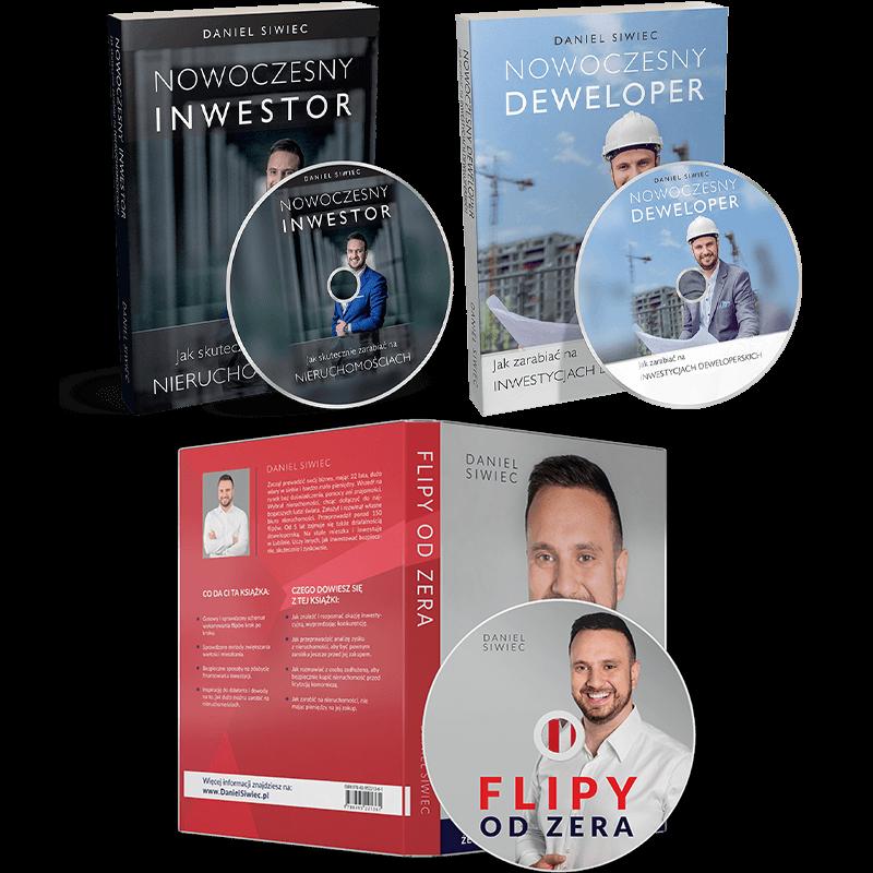 Pakiet audiobooków CD – Flipy od Zera + Nowoczesny Inwestor + Nowoczesny Deweloper