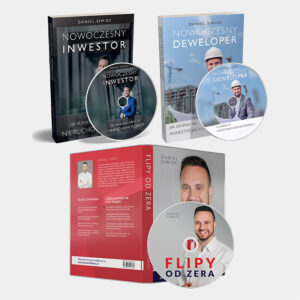 Pakiet Audiobooków CD - Nowoczesny Inwestor, Nowoczesny Deweloper, Flipy od Zera - Daniel Siwiec
